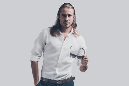 Coupe de cheveux long homme