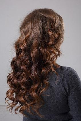 Permanente sur cheveux mi long photo